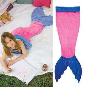 美麗大街【CP105112501】美人魚 搖粒絨 保暖人魚尾造型睡袋