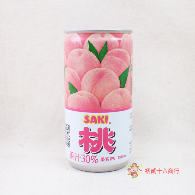 【0216零食會社】SAKI水蜜桃果汁180ml