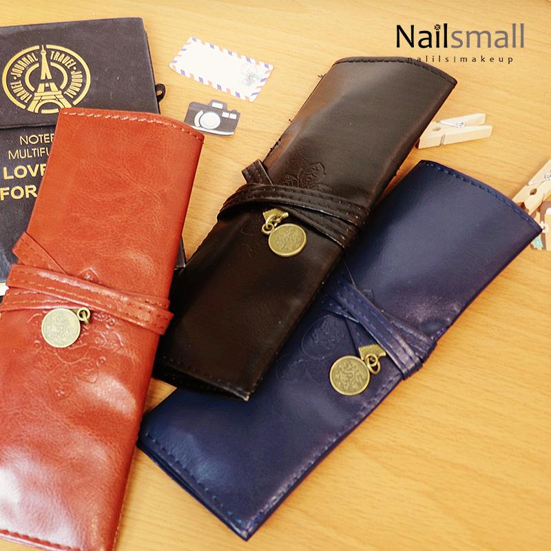 復古綁帶式筆袋 時尚便攜筆袋