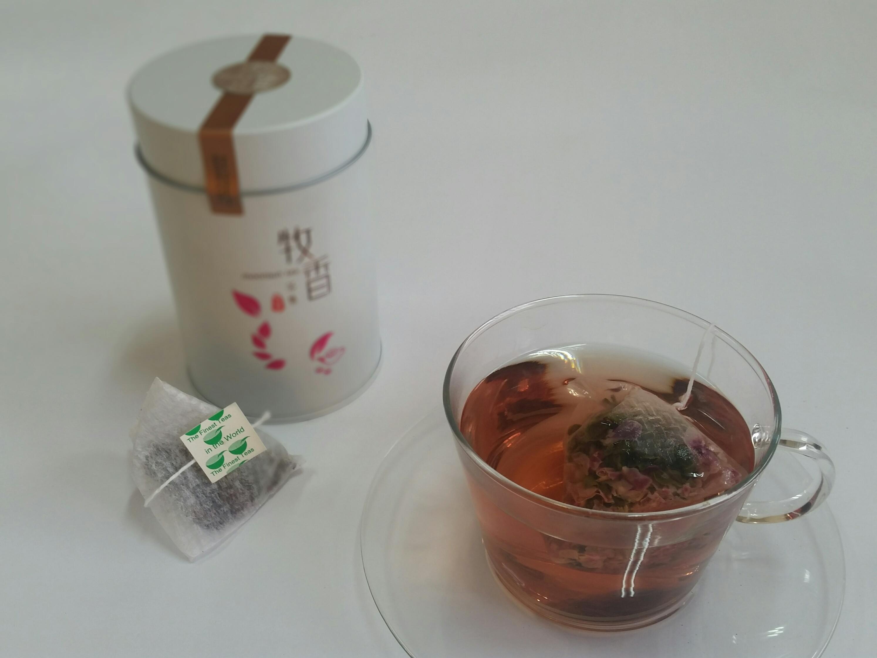 『牧香茶集台灣高山茶』有機玫瑰烏龍茶嚐鮮罐8入