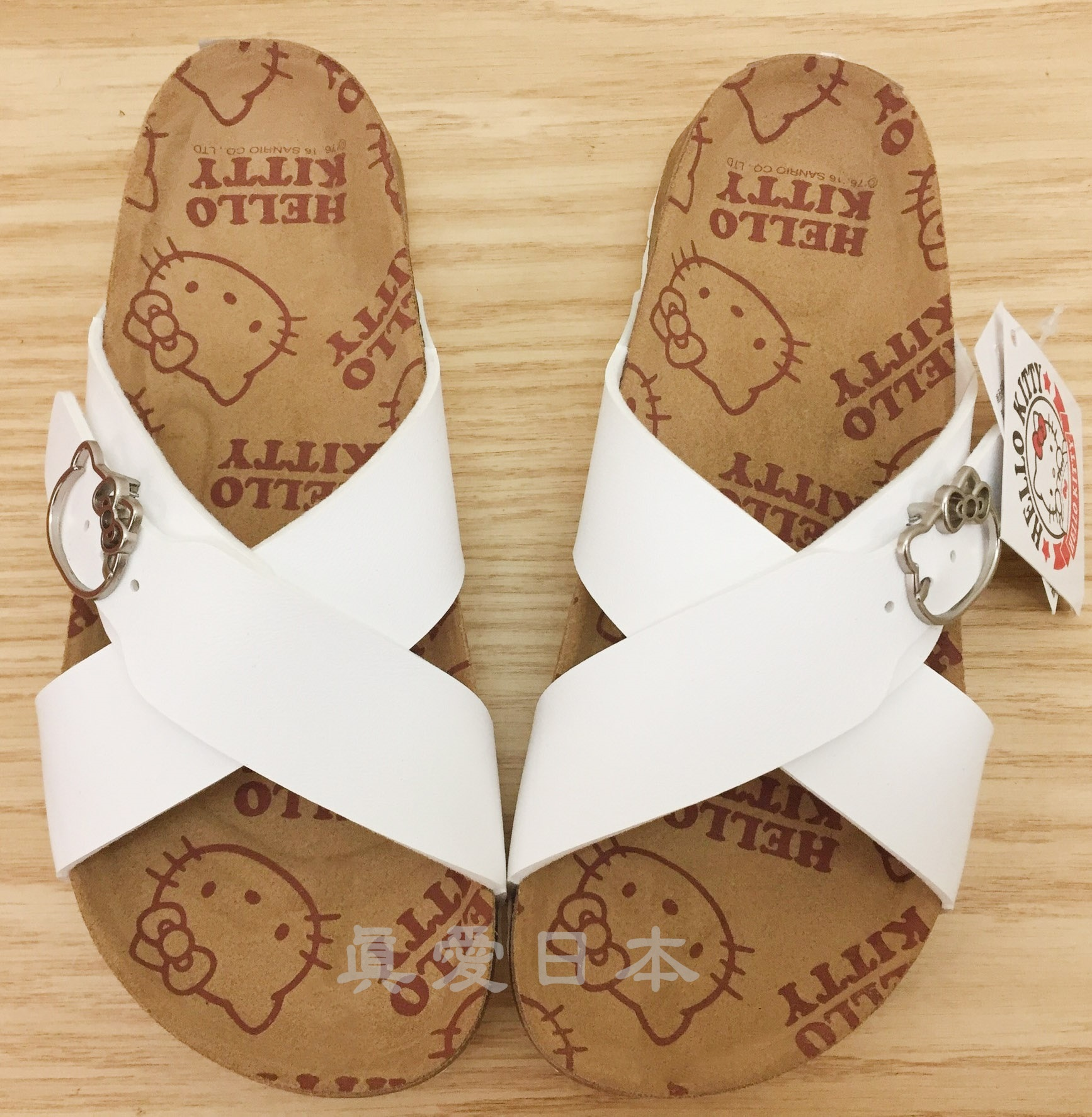【真愛日本】博肯鞋-KT916090白36~40 勃肯  拖鞋 外出鞋 kitty 鞋子