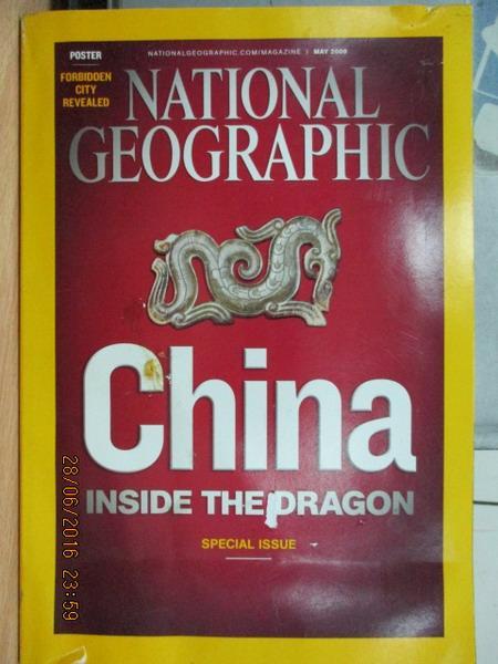 【書寶二手書T1/雜誌期刊_YET】國家地理_2008/5月_China inside the dragon等_英文版
