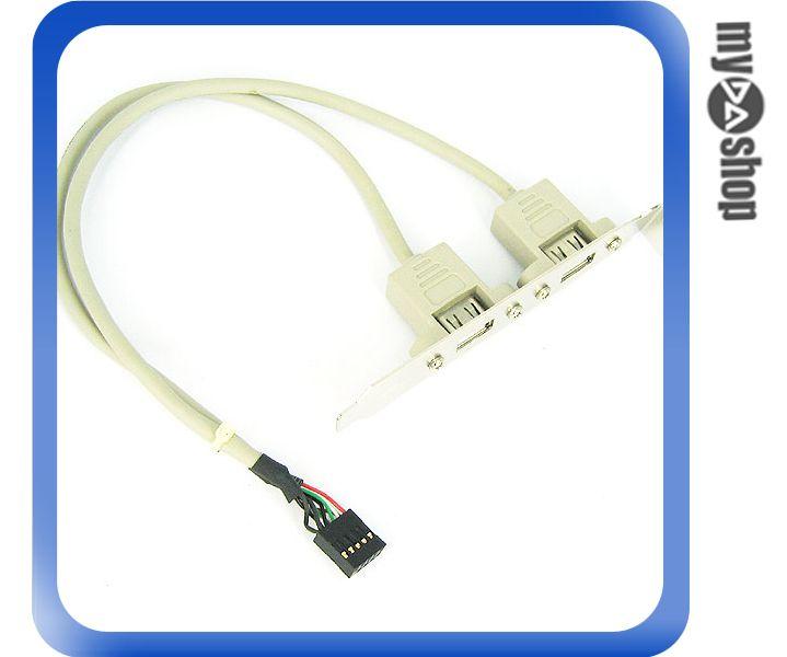 《DA量販店A》機殼用 2port USB 擴充背板傳輸線 介面轉接板 (12-287)