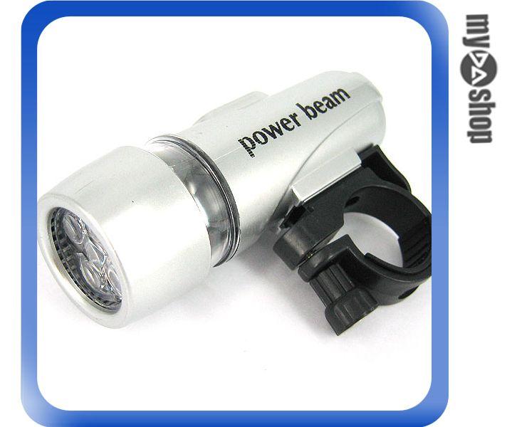 《DA量販店B》防水 自行車/腳踏車 LED 前後車燈組 前白光 後紅光 (17-500)