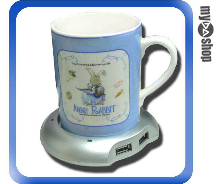 《DA量販店A》全新 USB 保溫杯墊 碟 享受冬天永遠有熱咖啡可以喝~內建4USB埠(20-067)