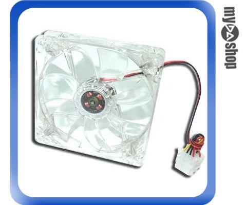 《DA量販店A》全新 高轉速 電腦12公分機殼風扇 四彩LED 透明造型 散熱風扇 (23-020)