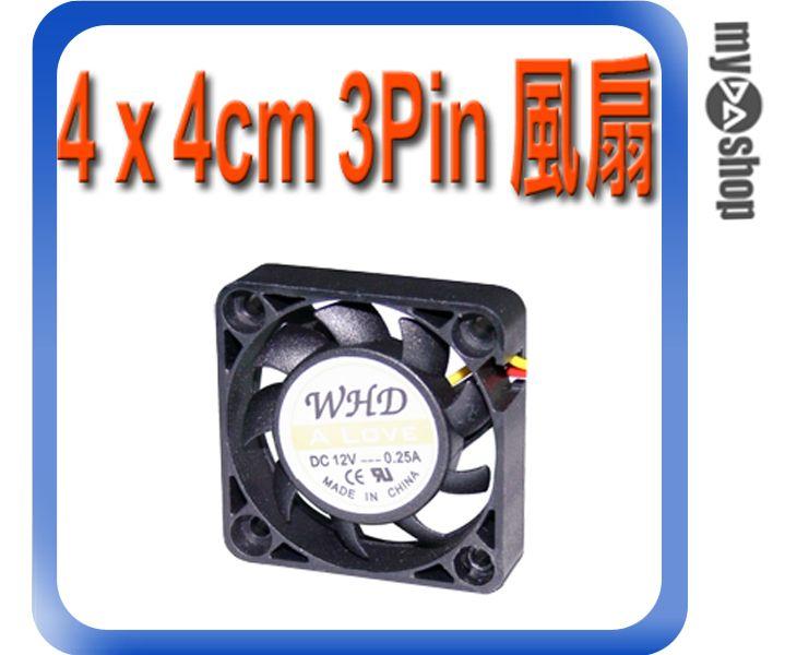 《DA量販店》全新 散熱器用 4 x 4cm 散熱風扇 小3pin接頭 DC 12V 油封軸承 (23-042)