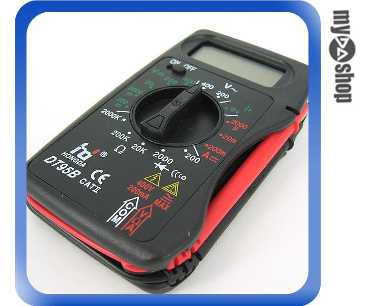 《DA量販店A》攜帶式 數位 多功能三用電表/電錶 直/交流電壓、電流、電阻 (34-218)