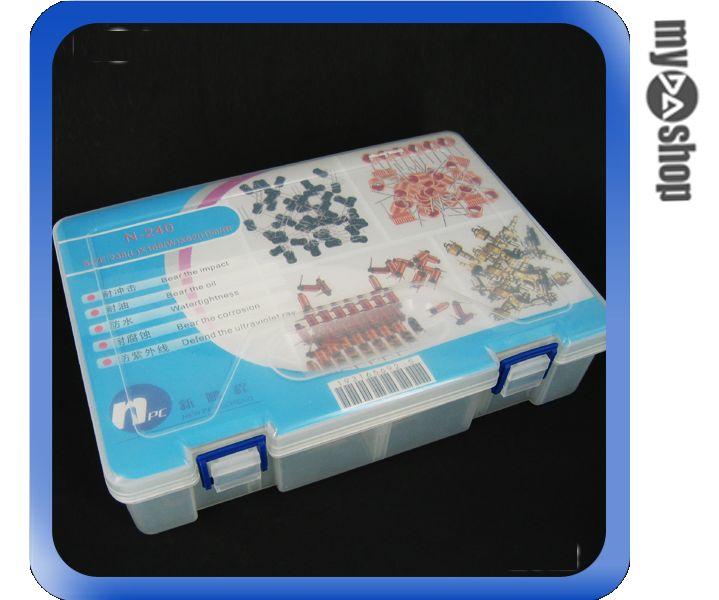 《DA量販店G》大型 雙層 可拆隔板 電子零件用 耐油防水耐衝擊 零件盒/分類盒 (34-434)