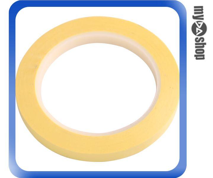 《DA量販店》全新 瑪拉膠帶 10MM*66M 黃色/聚脂膠帶/絕緣/抗化學品/抗化劑  (34-744)