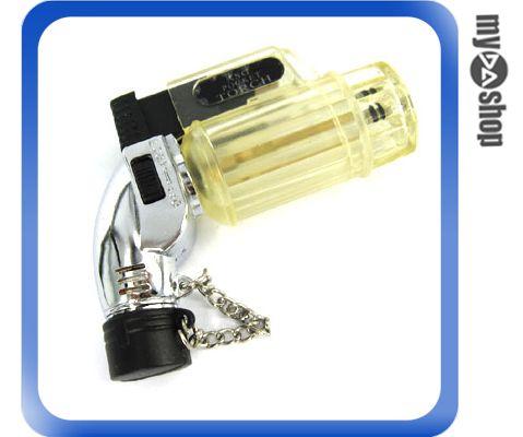 《DA量販店G》透明直桶造型 噴槍式 防風 強力噴射 打火機 可充瓦斯 重複使用(37-501)