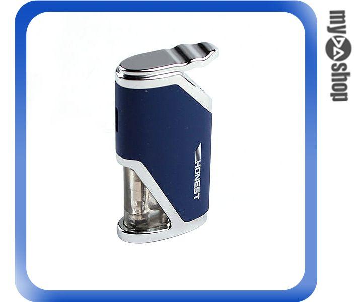 《DA量販店》全新 酷炫 防風 造型 打火機 可填充瓦斯 藍色 攜帶方便 (37-943)