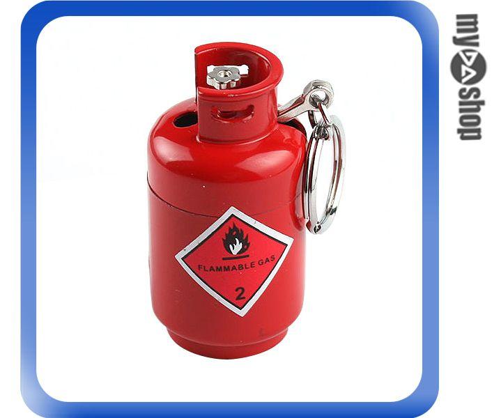 《DA量販店》全新 小煤氣罐 打火機 瓦斯造型 鑰匙圈 填充 禮品 紅色 (37-959)