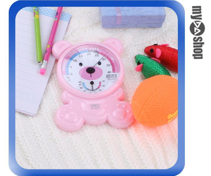 《DA量販店》居家 生活 裝飾 小物 可愛 小熊 造型 嬰幼兒 溫度計 濕度計 (59-1631)