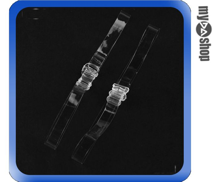 《DA量販店》全新 雙肩 透明 矽膠肩帶 可調整 好穿不易掉落 (59-889)