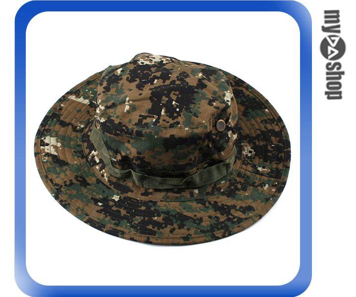 《DA量販店》經典 潮流 ACU CP 軍用 叢林 迷彩 圓邊 球型 漁夫 帽 登山 踏青 (64-031)