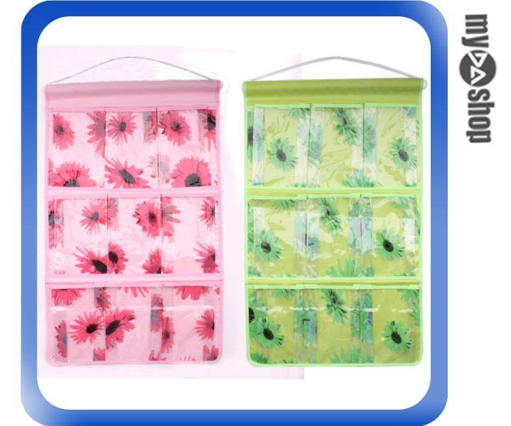 《DA量販店》廚房 浴室 居家 九口 牛津布 防水 掛袋 收納袋 清楚整齊(77-835)