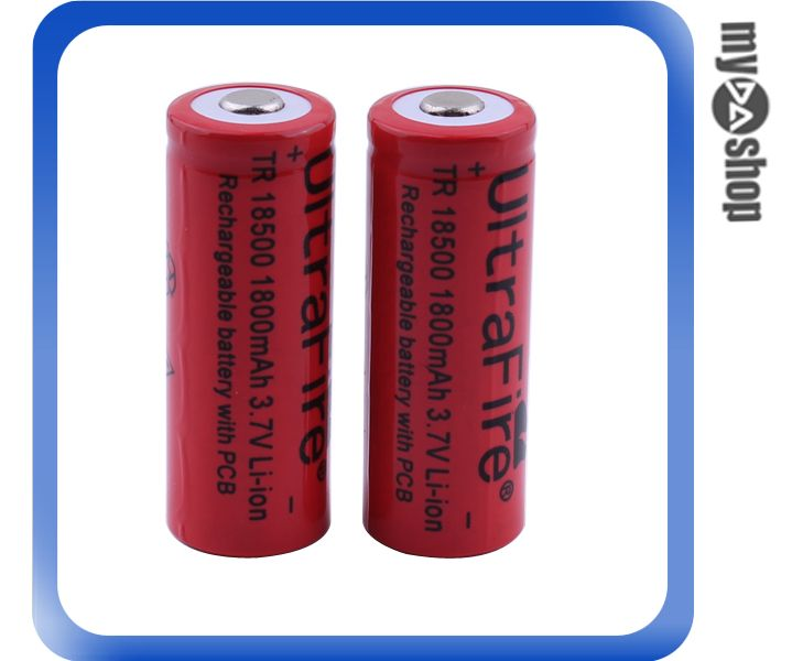 《DA量販店》2顆 Trust Fire 1800mAh 18500 3.7V Li-ion 鋰電池 充電電池 2(78-0207)