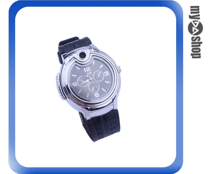 《DA量販店》獨特 金屬 手錶 造型 瓦斯 打火機 可重複使用 隨身 飾品(78-0829)