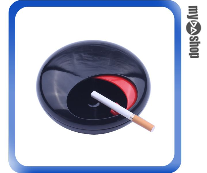 《DA量販店》創意 造型 菸灰缸 煙灰缸 煙具 居家 辦公室 擺設 黑色款(78-2889)