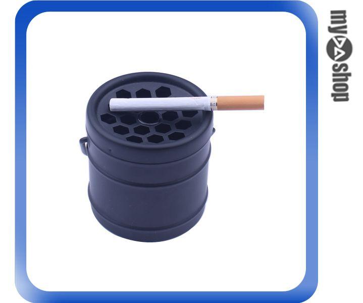 《DA量販店》創意 造型 菸灰缸 煙灰缸 煙具 居家 辦公室 擺設 黑色款(78-2894)