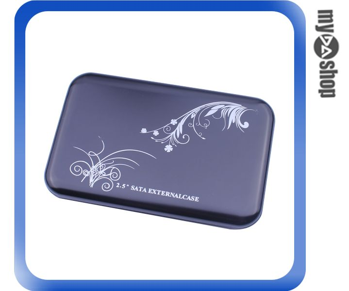 USB 2.0 2.5吋 SATA 外接式 不鏽鋼 硬碟盒 電腦週邊 顏色隨機(78-3100)