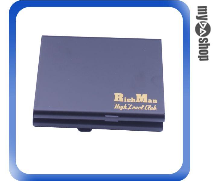 《DA量販店》隨身 金屬 菸盒 香煙盒 雙面 可放20隻 黑色款(78-3693)