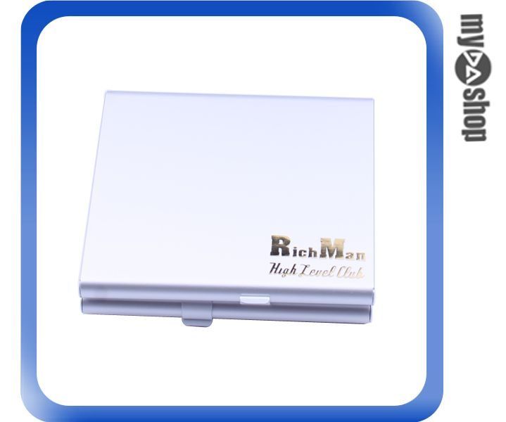 《DA量販店》隨身 金屬 菸盒 香煙盒 雙面 可放20隻 銀色款(78-3694)