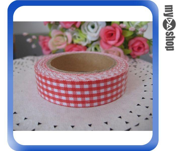 《DA量販店》DIY 手工藝 布質 格子 碎花 圓點 裝飾 膠帶 款式隨機出貨(79-0512)