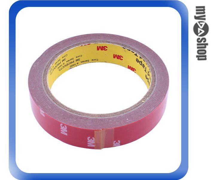 《DA量販店》汽車 精品 百貨 改裝 3M 泡棉 雙面膠 雙面膠帶 3M膠帶 20mm 3M(79-0638)