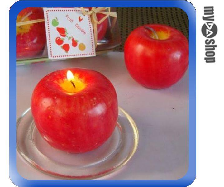 《DA量販店》造型 香氛 中型 蘋果 蠟燭 婚禮小物 送客禮 婚慶 佈置 一組二入(79-0874)
