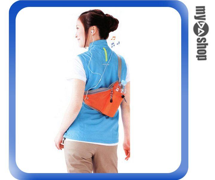 《DA量販店》多功能 運動 腰包 臀包 斜背包 單車包 貼身包 收納包 橘色(79-1682)