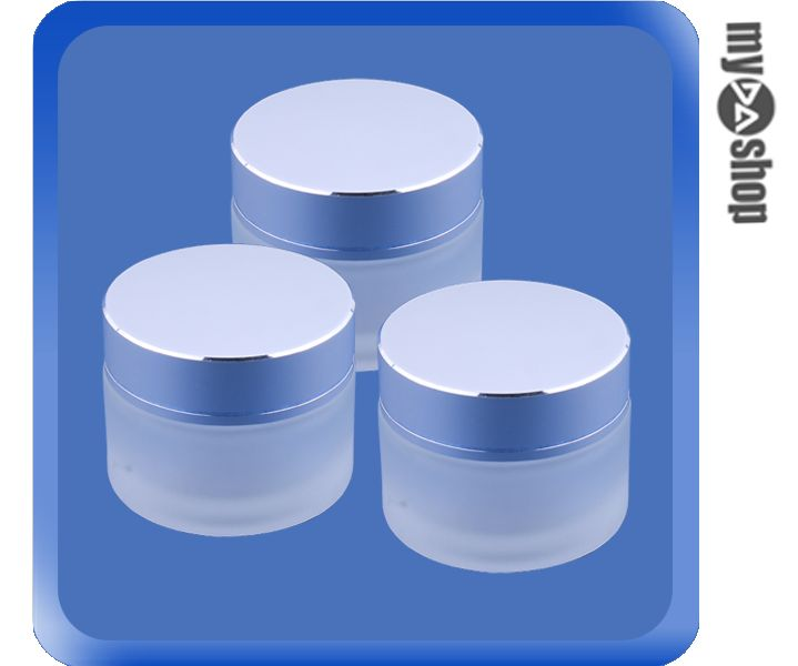 《DA量販店》3罐 30ml 化妝瓶 空瓶 容器 原料罐 玻璃罐 玻璃瓶 磨砂 銀(79-2204)