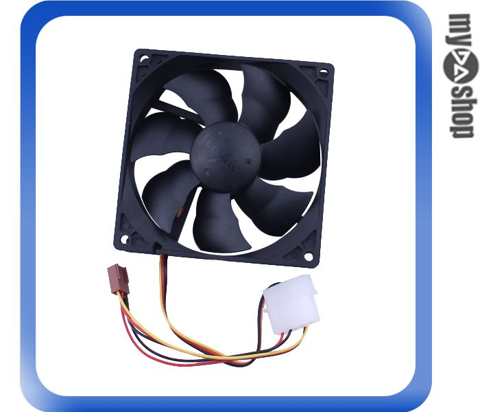《DA量販店》電腦 周邊 主機 散熱 9cm 風扇 黑色 3PIN電源 液壓軸承 超靜音(79-2551)