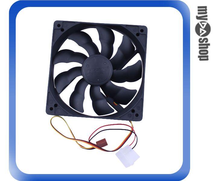 《DA量販店》電腦 周邊 主機 散熱 12cm 風扇 黑色 3PIN電源 液壓軸承 超靜音(79-2555)