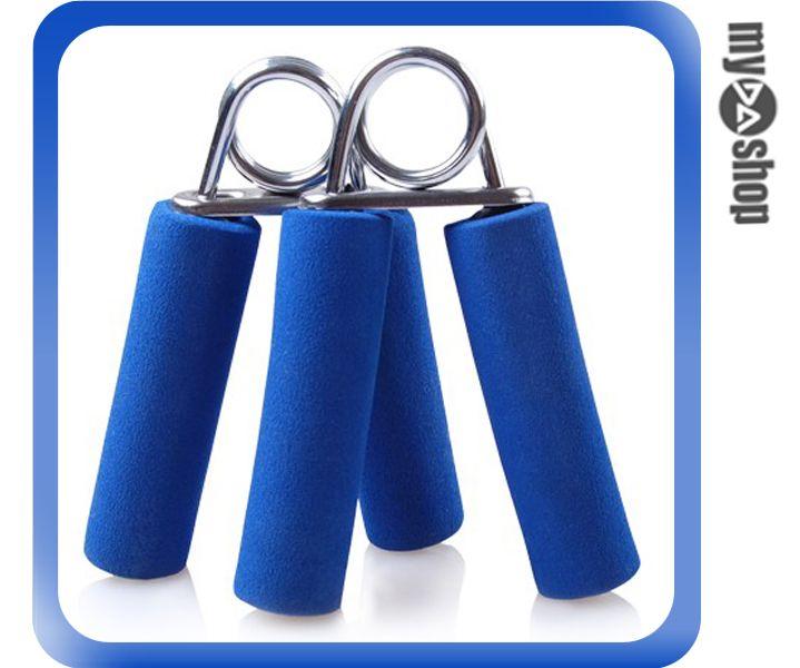 《DA量販店》運動 健身 健康 海綿 手指 握力器 臂力器 復健 鍛鍊肌力 2入 顏色隨機(79-3111)