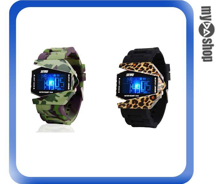 《DA量販店》LED 防水 電子錶 兒童錶 數字錶 禮物 禮品 迷彩(79-4523)