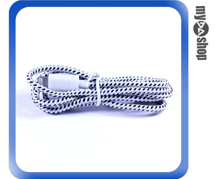 《DA量販店》蘋果 iphone5 5C 5S 傳輸線 充電線 圓線 編織線 顏色隨機(79-4922)