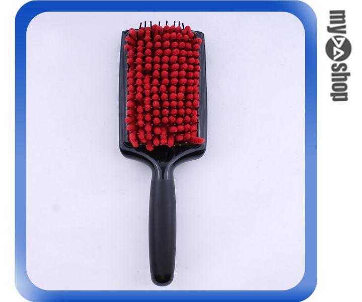 《DA量販店》居家 吸水梳 乾髮梳 頭皮 保健 梳子 按摩梳 顏色隨機出貨(79-4990)