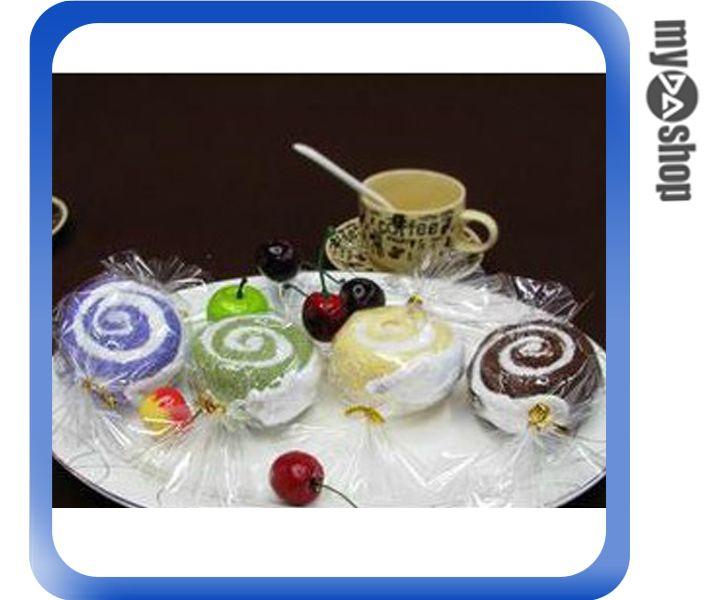 《DA量販店》創意 糖果 蛋糕 毛巾 婚禮小物 禮品 贈品 聖誕節 顏色隨機出貨(79-4992)