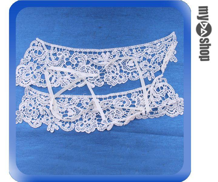 《DA量販店》韓版 精美 刺繡 白色 衣領 假領子 情人節 墜飾 首飾 項鍊 (79-5198)
