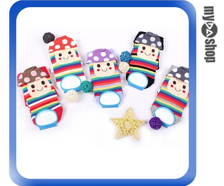 《DA量販店》韓國 卡通 蘑菇 花邊 彩虹 圓點 少女 襪子 船型襪 顏色隨機(80-0569)