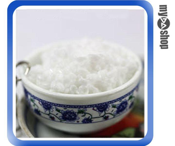 《DA量販店》仿真食物 袖珍 禮品 婚禮小物 食物 青花瓷 鑰匙圈 白飯(80-0585)