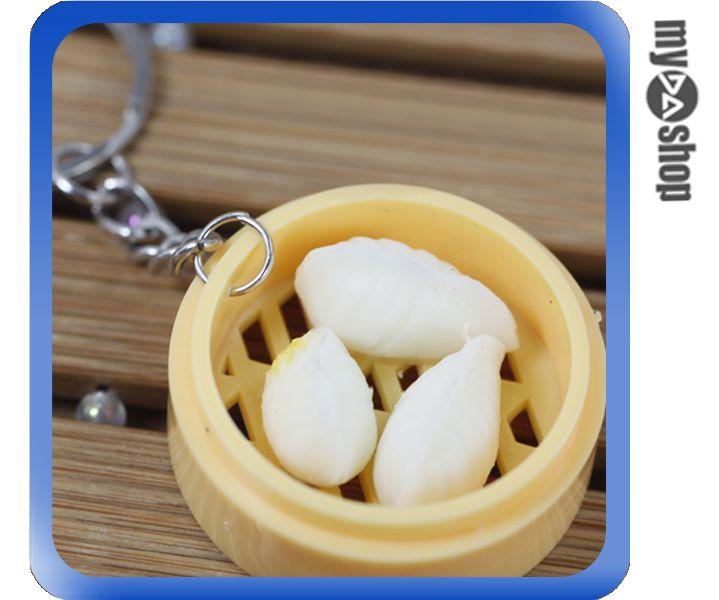《DA量販店》仿真食物 袖珍 禮物 禮品 婚禮小物 食物 小吃 鑰匙圈 水晶餃(80-0604)