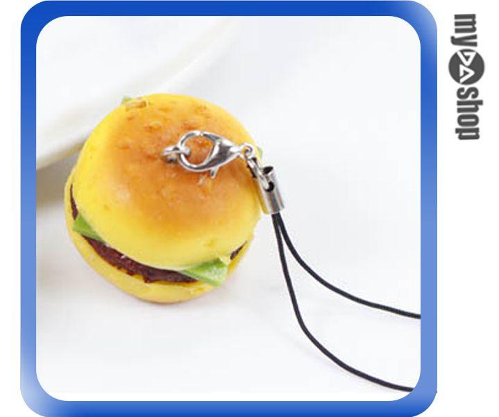 《DA量販店》仿真食物 袖珍 禮物 禮品 婚禮小物 食物 鑰匙圈 漢堡(80-0615)