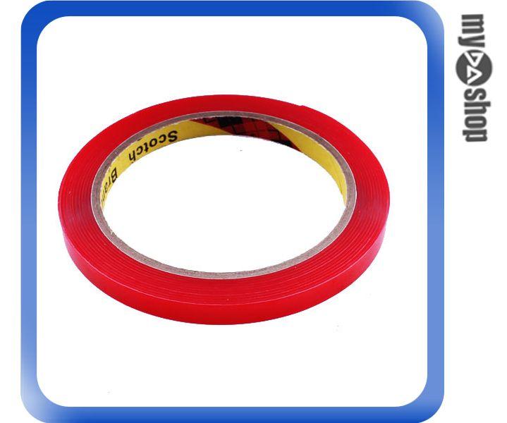 《DA量販店》汽車 精品 改裝 3M 無痕 強力 黏度 膠帶 8MM*3M 紅色 透明(80-0955)