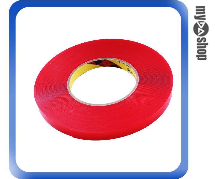 《DA量販店》汽車 精品 改裝 3M 無痕 強力 黏度 膠帶 12MM*15M 紅色 透明(80-0961)