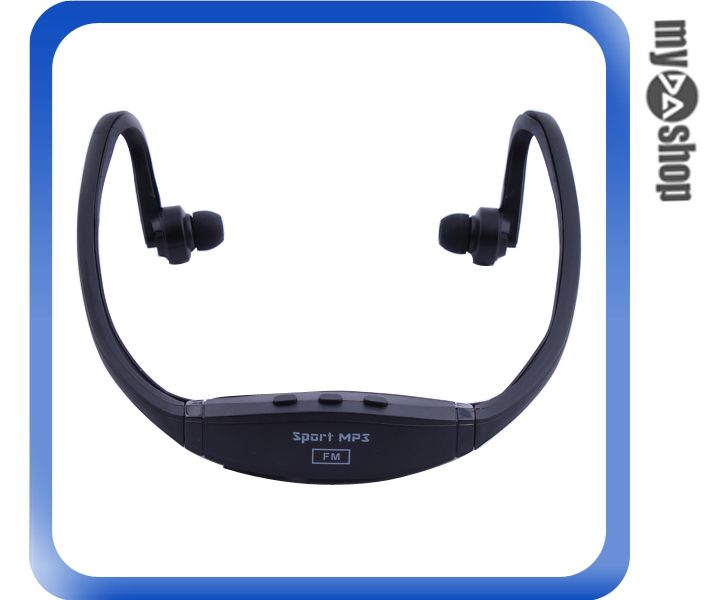 《DA量販店》耳塞式 耳掛式 頭戴式 MP3 運動耳機 插卡式耳機 運動MP3 黑色款(80-1002)