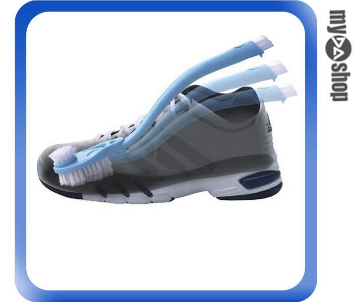《DA量販店》多功能 多用途 雙頭 雙面 弓型 洗鞋刷 運動鞋 鞋底 鞋內 清洗刷(80-1027)