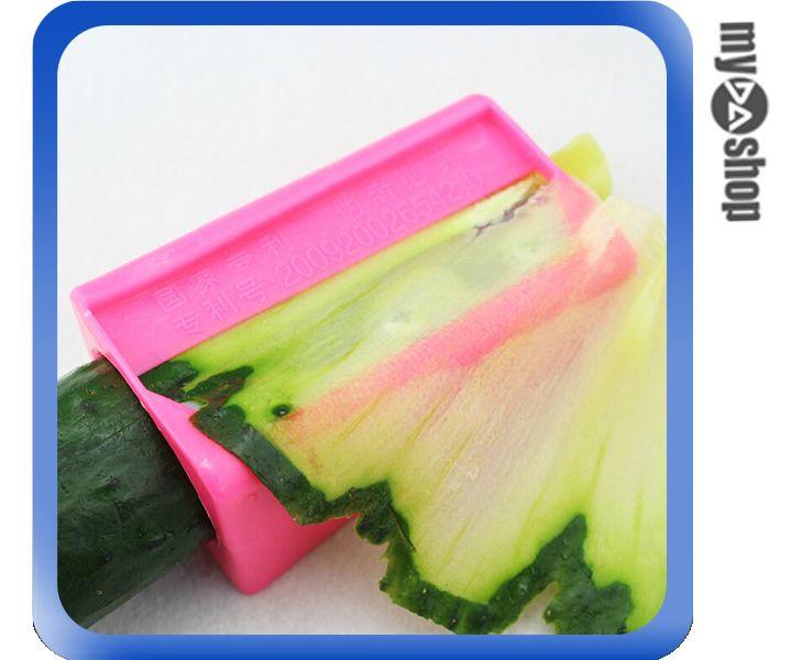 《DA量販店》美容 創意 敷臉 DIY 小黃瓜 面膜 削鉛筆式 切片器 顏色隨機(80-1051)